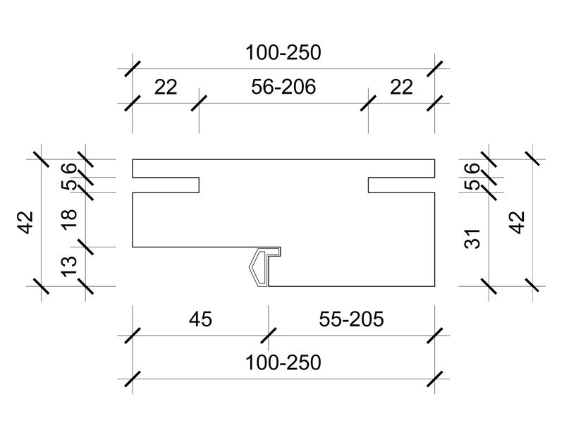 Ravni štok furniran hrastom-03